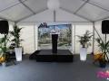 Inauguration K&B - Location scène - enceintes - pupitre - Seine Saint Denis