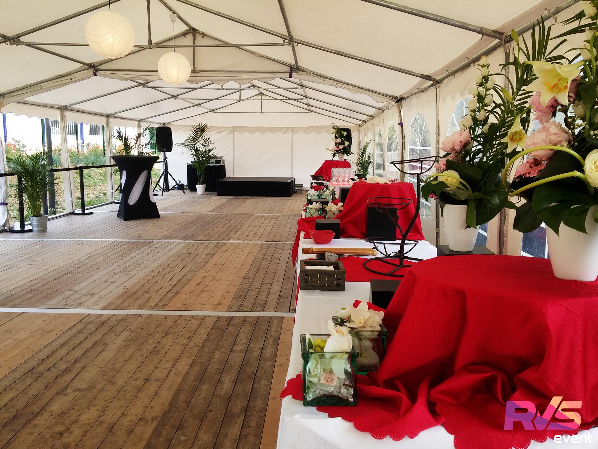 Fabuleux Inauguration sous tente K&B - Location tente de réception &FQ_17
