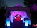 Location Mobilier lumineux - Tente de réception