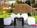 Location Cubes lumineux & Fauteuils lumineux & Tables & Boules lumineuses & Gouttes lumineuses & Sol PVC - RVS Event