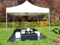 Location tente 3x3 + banquettes + poufs - Paris