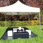 Banquettes & Poufs & Tables & Boule lumineuse & Tente 3x3 & Sol PVC - RVS Event