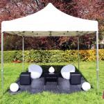 Banquettes & Poufs & Tables & Fauteuils lumineux & Boules lumineuses & Gouttes lumineuses & Tente 3x3 & Sol PVC - RVS Event