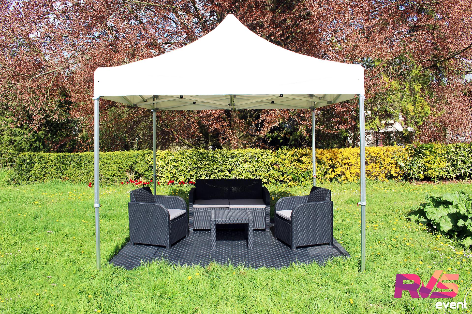 Location tentes 3x3 pliantes rvs event for Salon de jardin ile de france