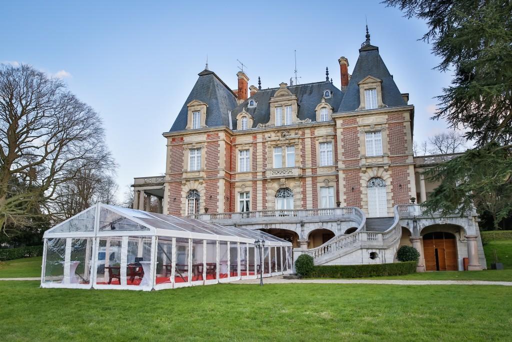 Location tente de réception - Château de Bouffémont