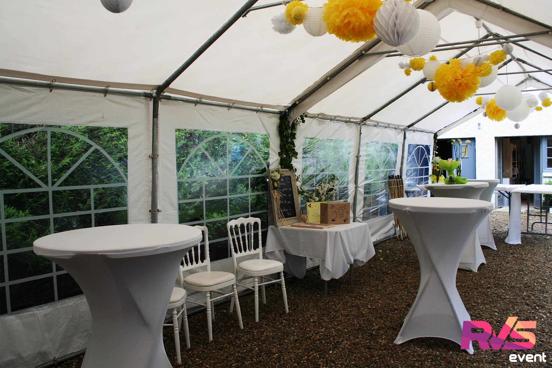 Mariage Tente de réception 4x14 - RVS Event