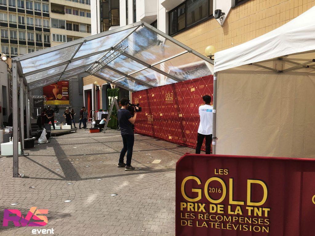 Les Gold - Prix de la TNT 2016 - Location tente cristal - RVS Event