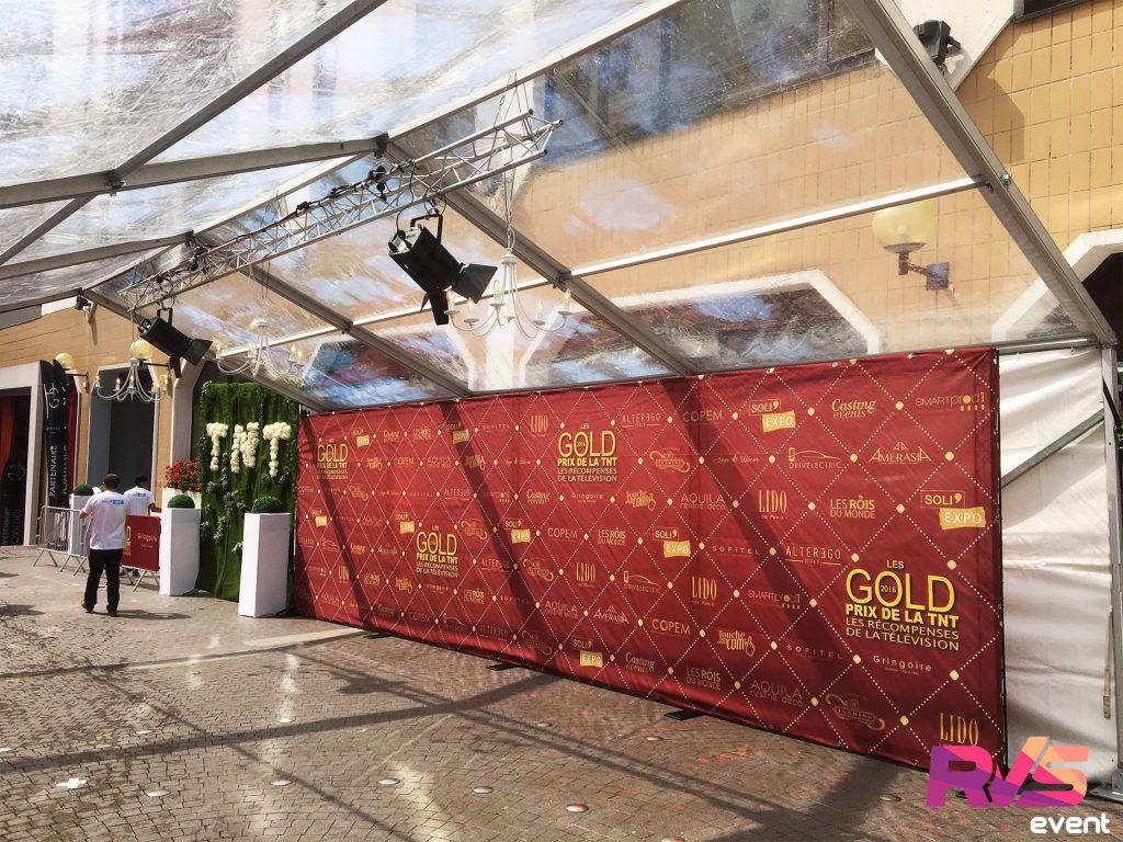 Les Gold - Prix de la TNT 2016 - Location tente cristal